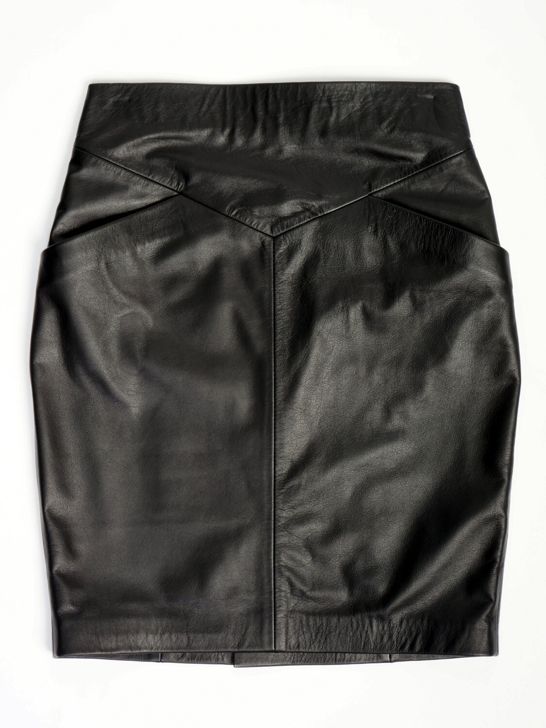 Leather Pencil Skirt Knees Pockets