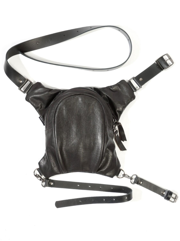 Dark Brown Leather Legbag
