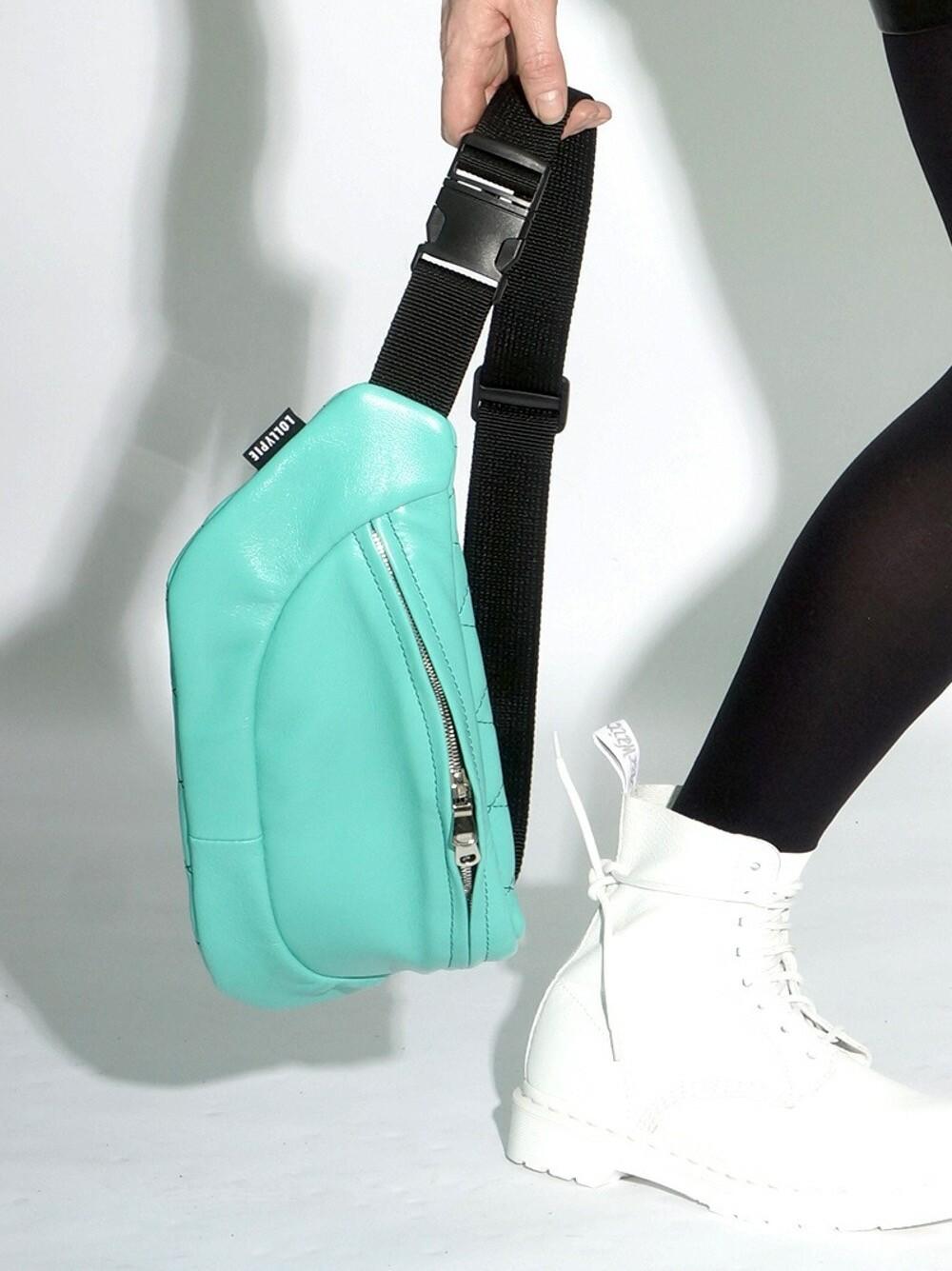 Mint Leather Beltbag