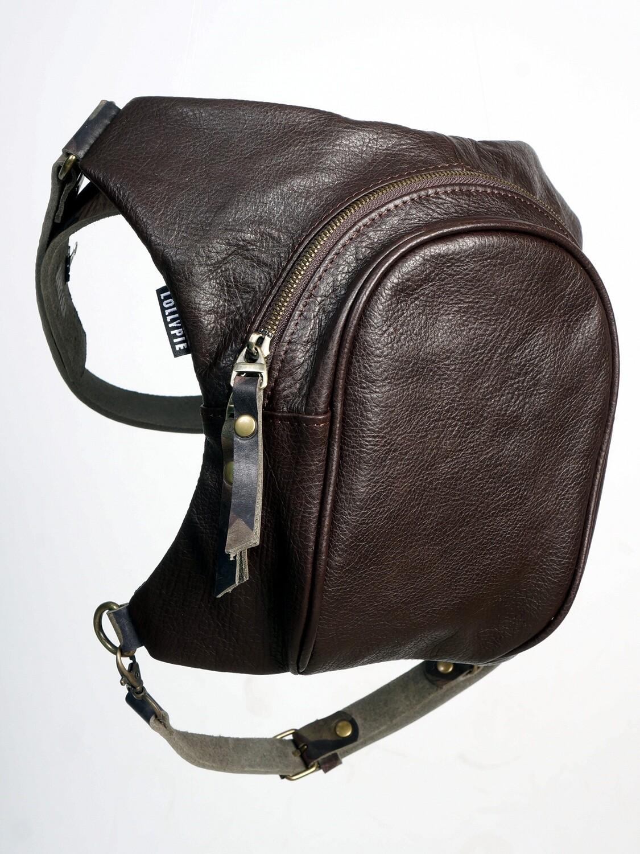 Brown Leather Legbag