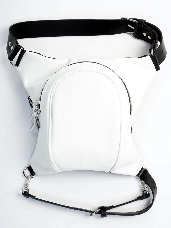 White Leather Legbag