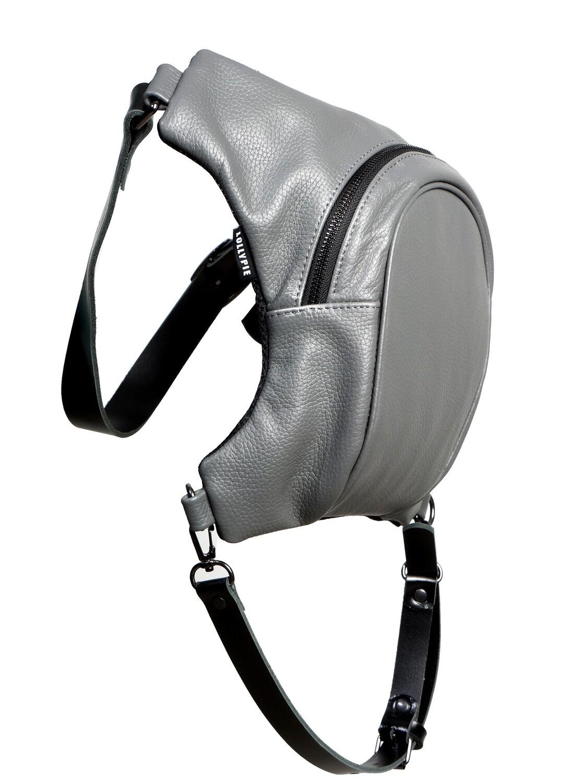 Blue Leather Legbag