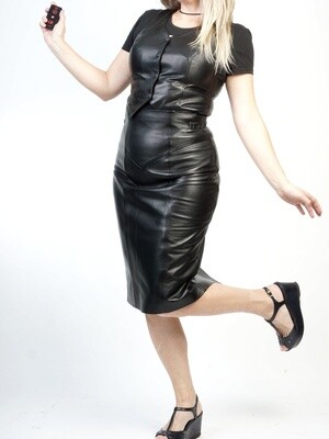Skirt Leather Pencil Long