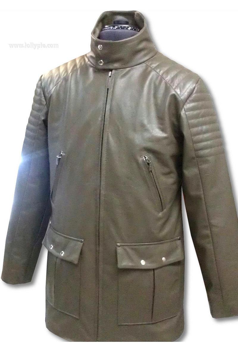Кожаная куртка на утеплителе Leather Jacket