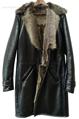 Men's sheepskin coat work examples