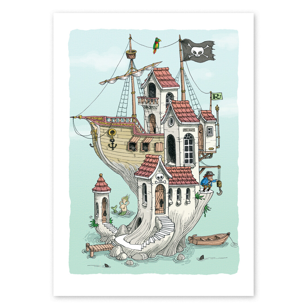 Pirate House Print