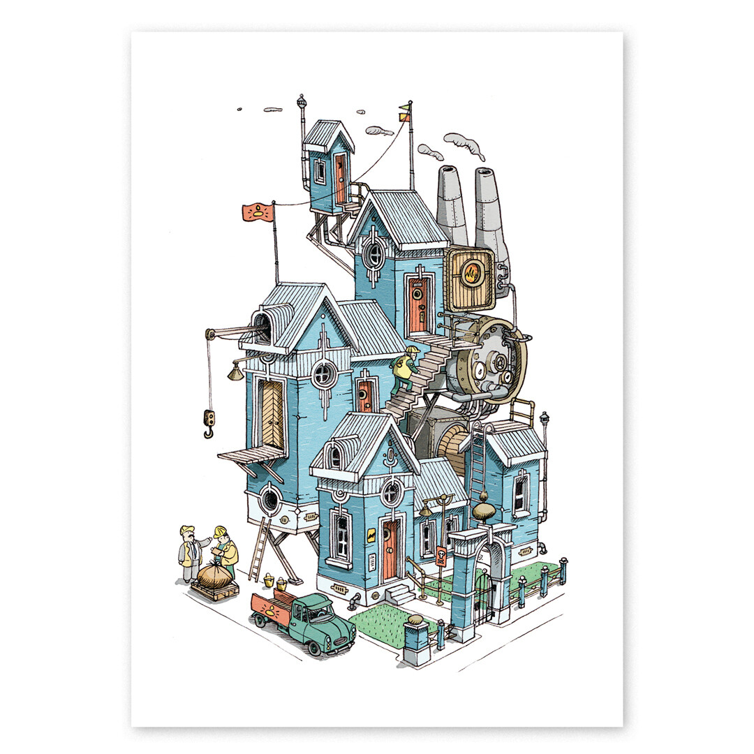 The Dragon Hatchery House Print