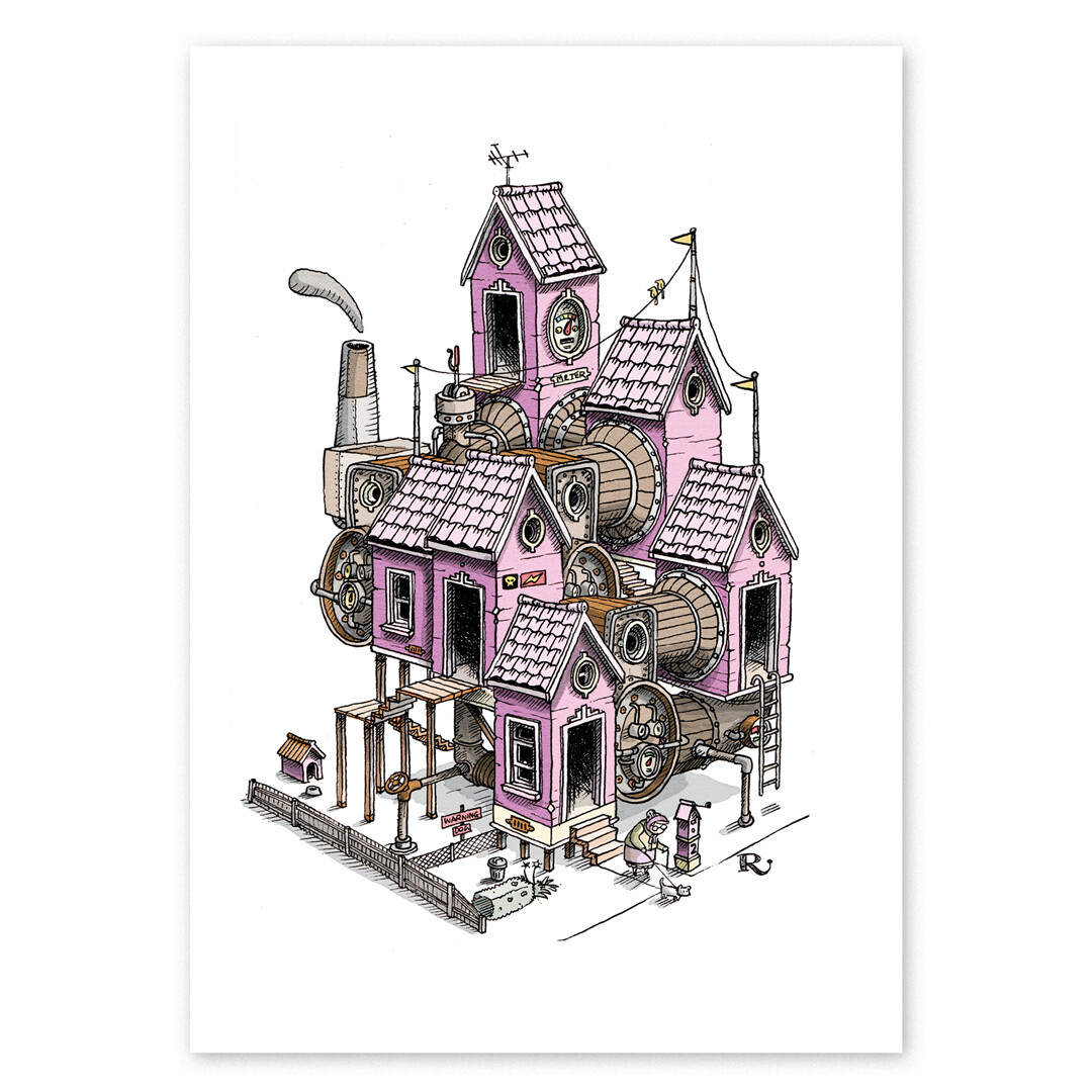 Mrs Hobson's House Print