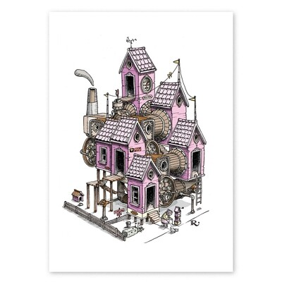 Mrs Hobson's House Print