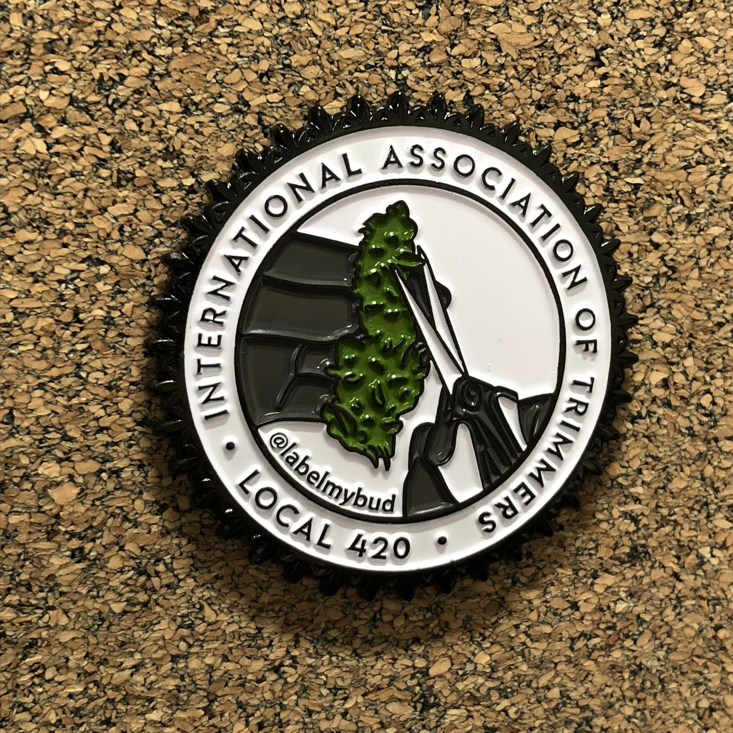 International Association of Trimmers Enamel Pin