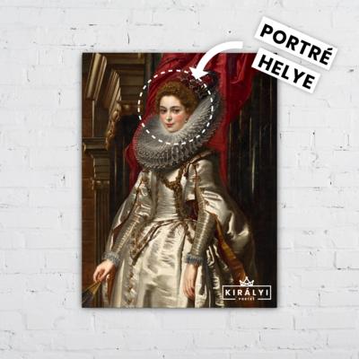 Genovai Királynő- Egyedi Portré