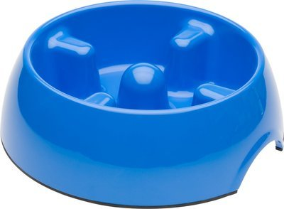 Dogit Go-Slow Anti-Gulp Dog Bowl, Medium, 600 ml