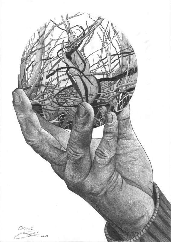Orb 1 | Pencil on 200gsm paper | 42 x 59.4 cm | 2019