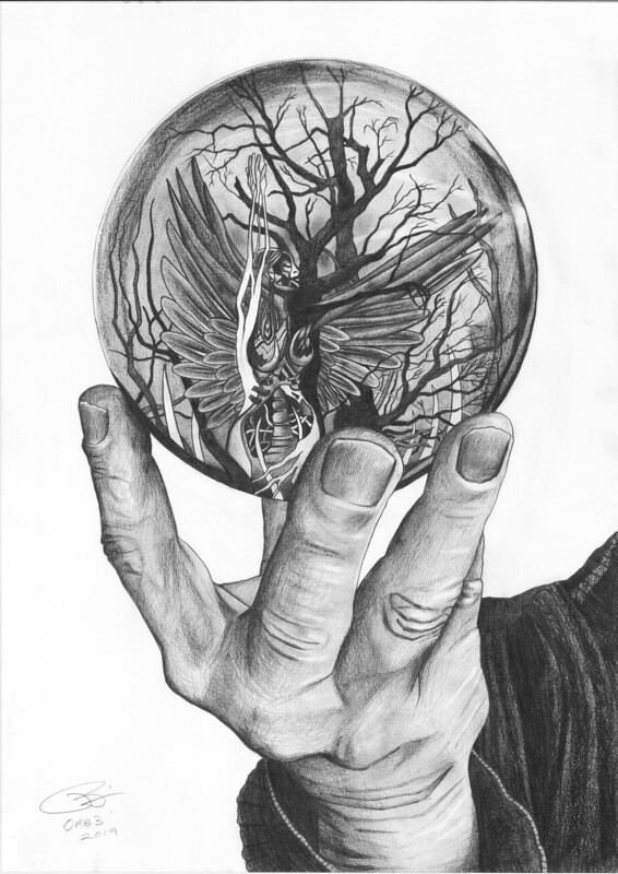 Orb 3 | Pencil on 200gsm paper | 42 x 59.4 cm | 2019