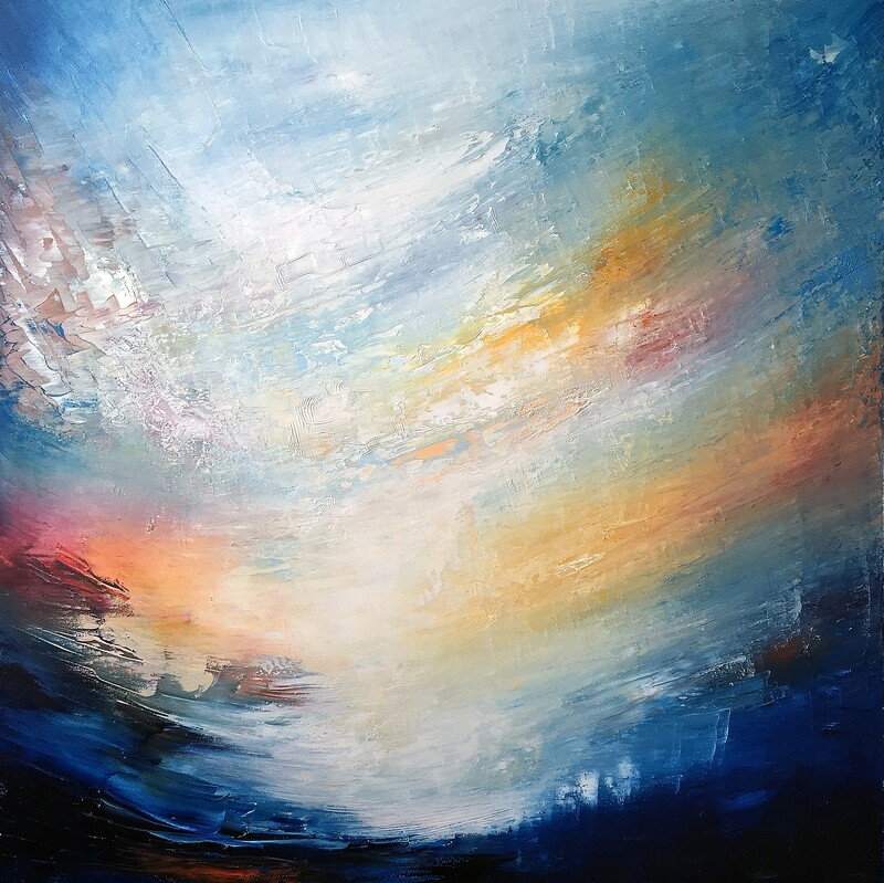 Aetheria | Oil on canvas | 100 x 100 x 4 cm | 2019
