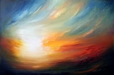 Elysian Dawn | Oil on canvas | 90 x 60 cm | 2021