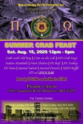 Pi Omega Crab Feast (Individual tickets)