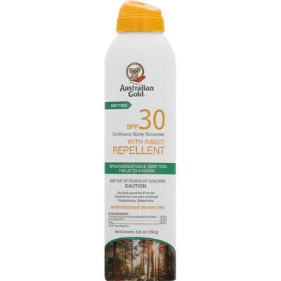 Australian Gold Sunscreen with Insect Repellent SPF30