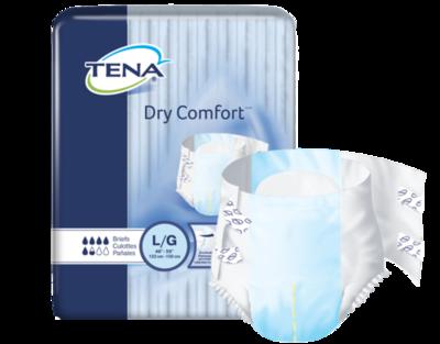 TENA DRY COMFORT BRIEFS (QTY 12)