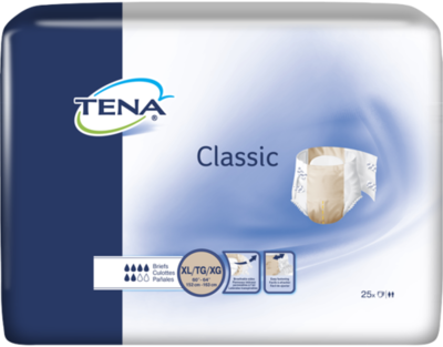 TENA CLASSIC BRIEFS (QTY 25)