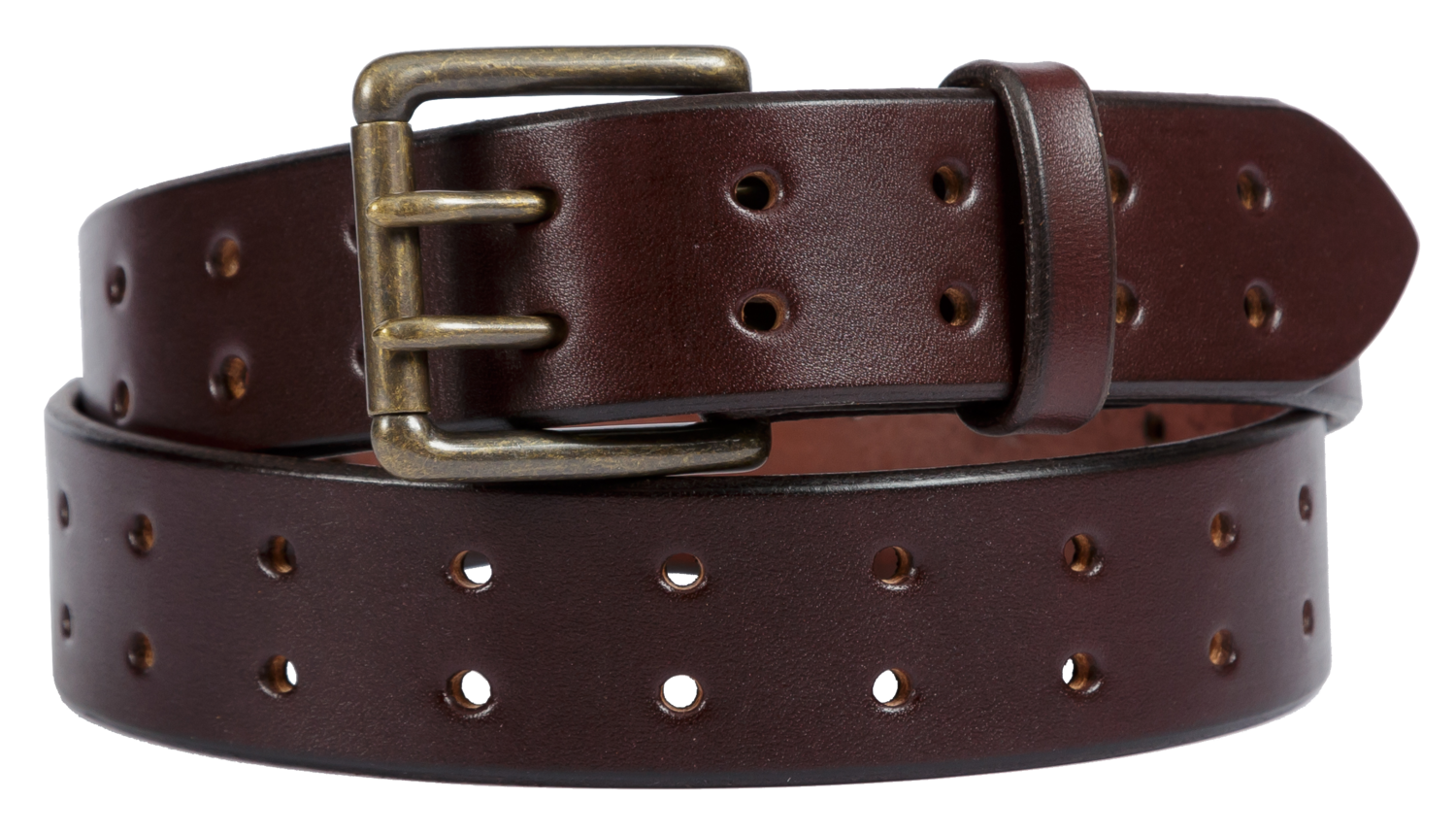 Double Prong Belt, Dark Brown