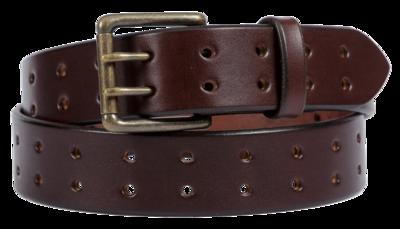 Double Prong Belt, Dark Brown