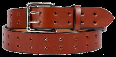 Double Prong Belt, Light Brown