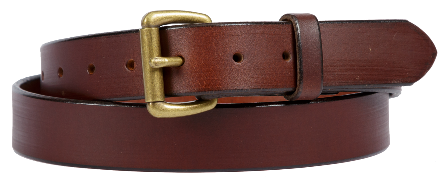 Buffalo Leather Belt, Brown