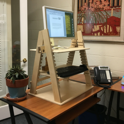 Stationary Caterpillar Desk - Two Heights Available