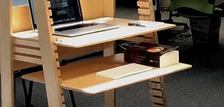 Extra Flamingo Desk Shelf