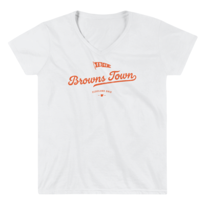 THE LAND-Browns Town Womens V Neck