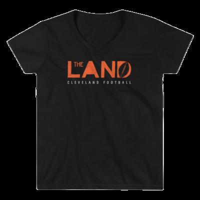 THE LAND-Cleveland Football Womens V Neck