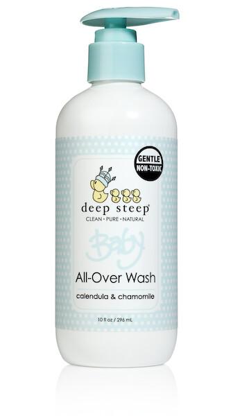 Deep Steep Baby - Shampoo y Gel de Baño de Calendula y Manzanilla - 296 ml