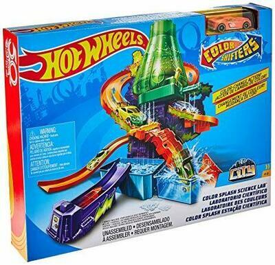 Hot Wheels - Set de Juego Color Shifters Laboratorio Científico