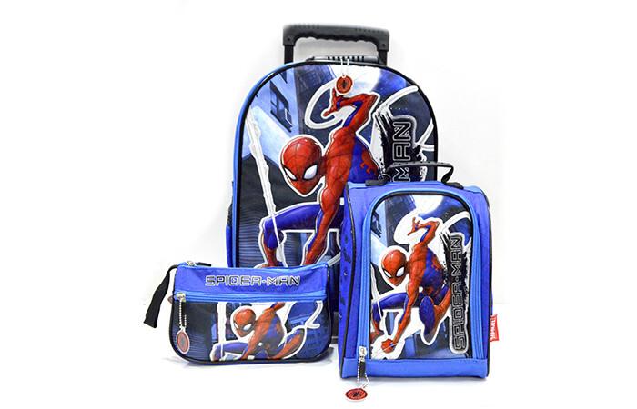 Set de Mochila Spiderman Azul