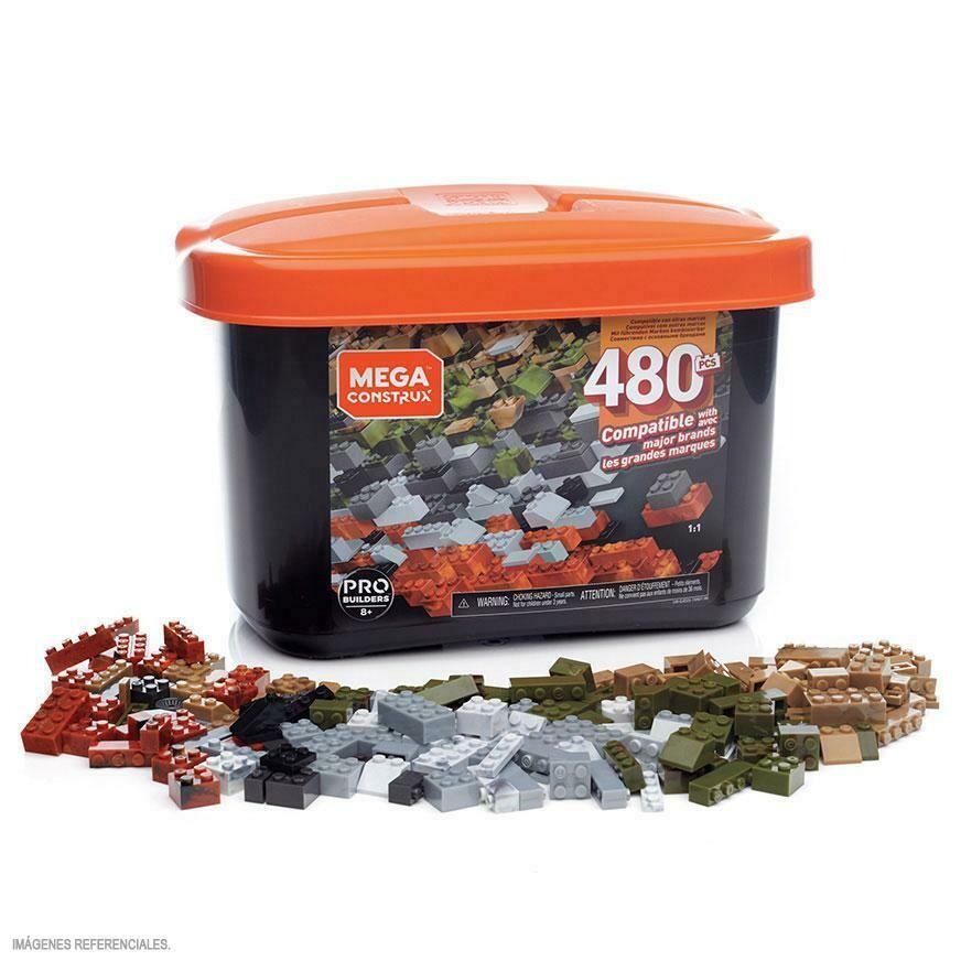 Mega Blocks - Caja de Construccion Pro de 480 piezas