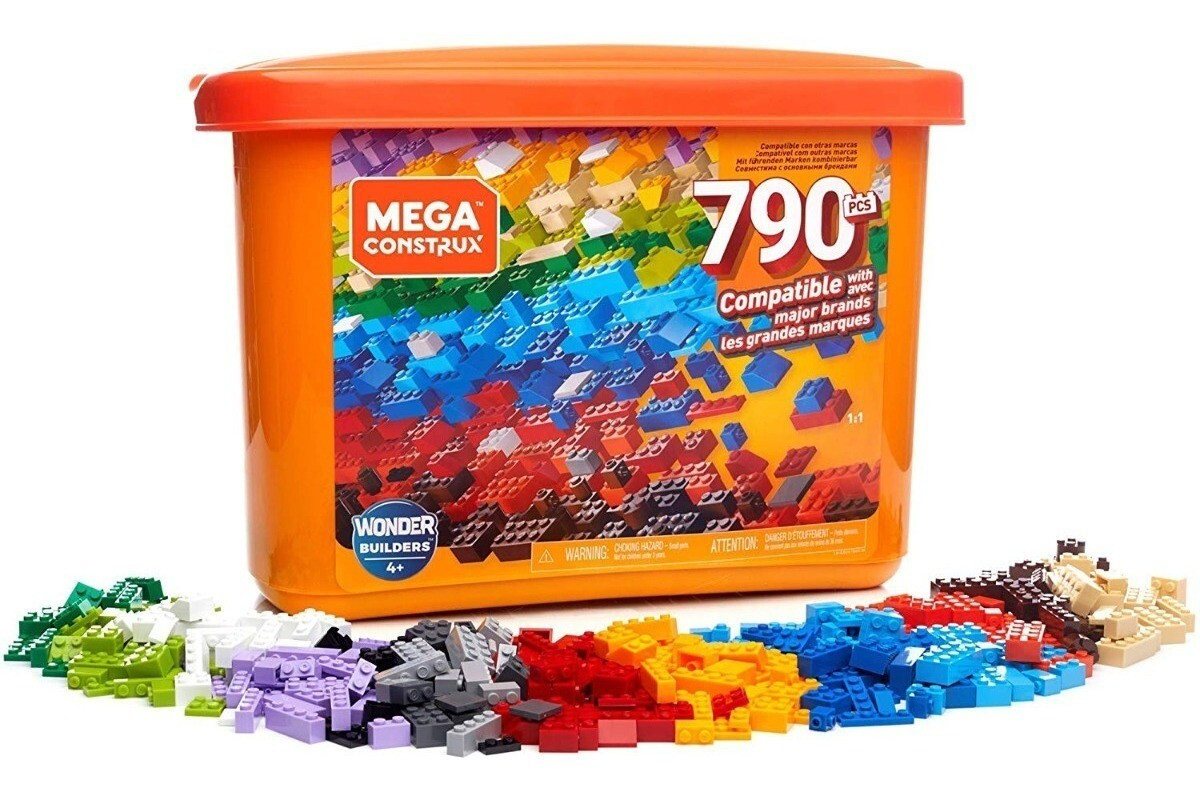 Mega Blocks - Gran Caja de Construccion Core de 790 piezas