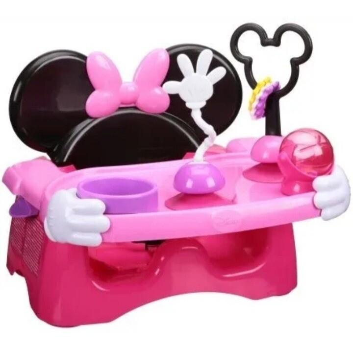 Disney Baby - Silla de Comer Portatil con Actividades de Minnie Mouse