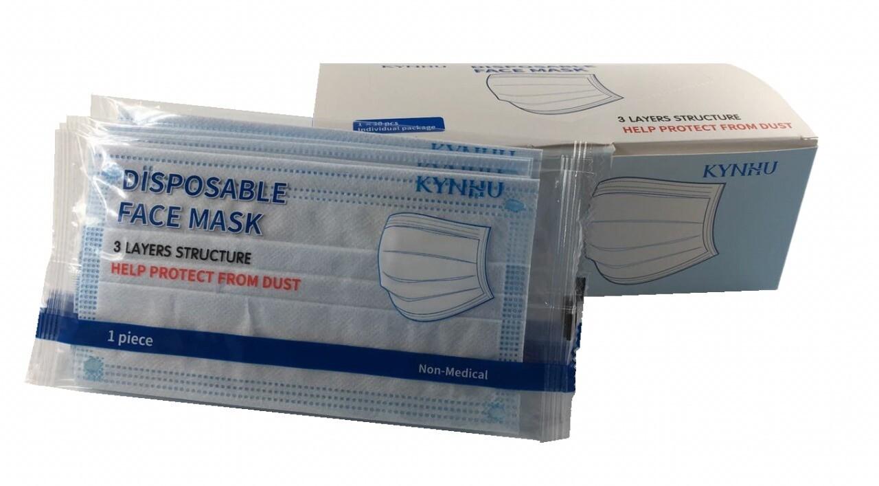 Mascaras de 3 pliegues
