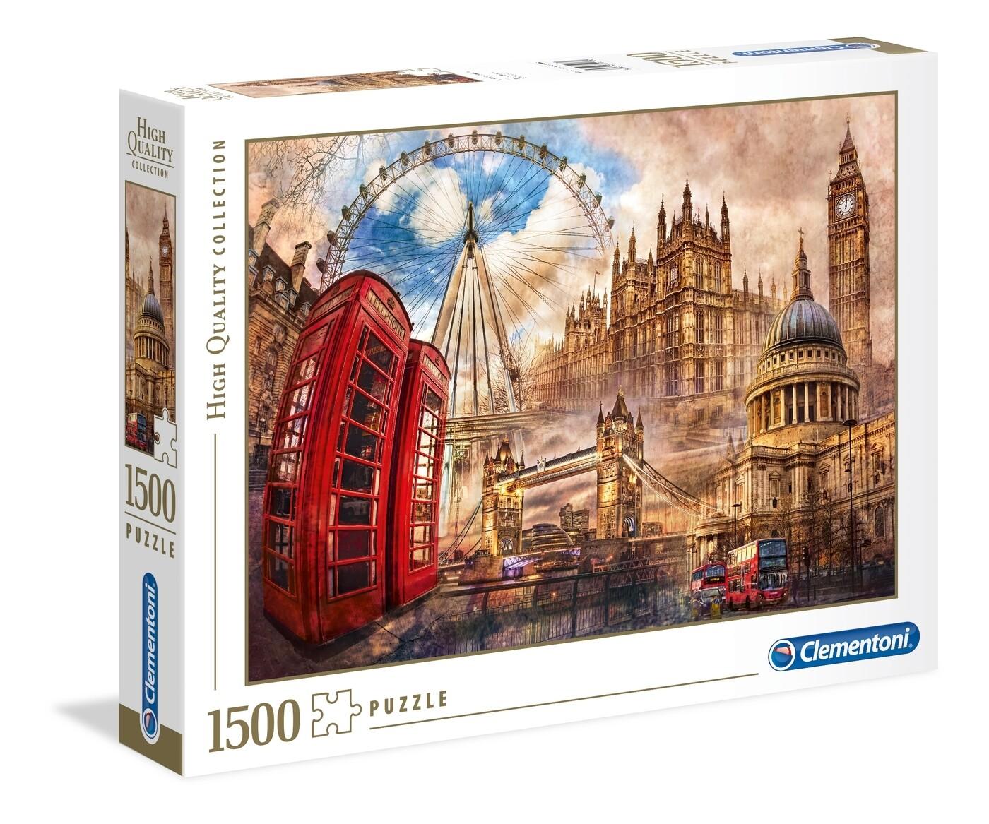 Rompecabezas Modelo Londres Clasico x 1500 piezas