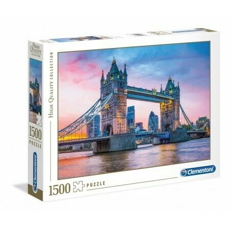 Rompecabezas Modelo Atardecer en el Puente de la Torre x 1500 piezas