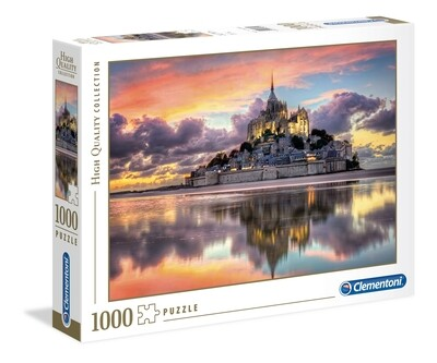 Rompecabezas Modelo el Magnifico Mont Saint Michel x 1000 piezas