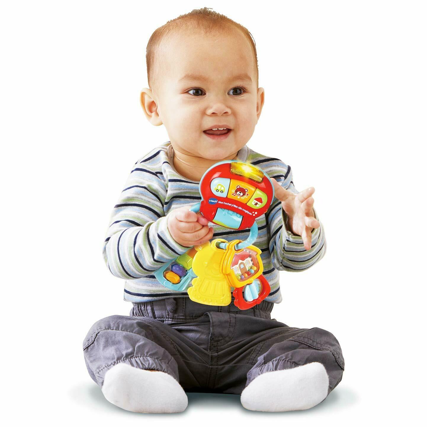 VTech- Llavero Baby Keys Sonajero electronico interactivo con voz y luces
