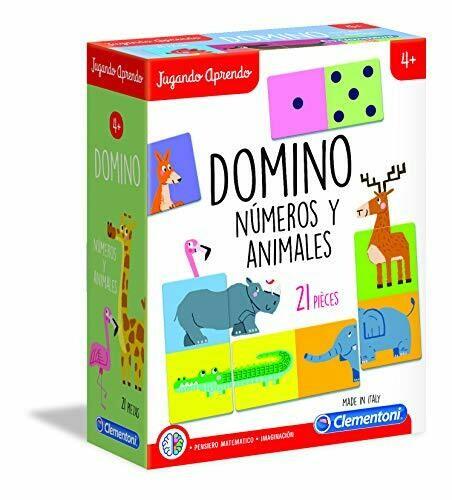 Clementoni - Domino de los Animales, Formas y Colores - Mi Abecedario
