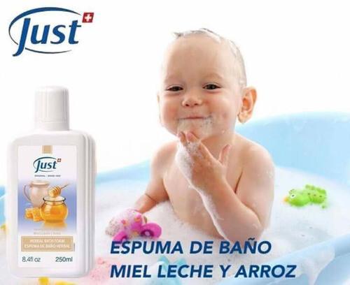 Espuma de Baño Miel, Leche y Arroz - Swiss Just