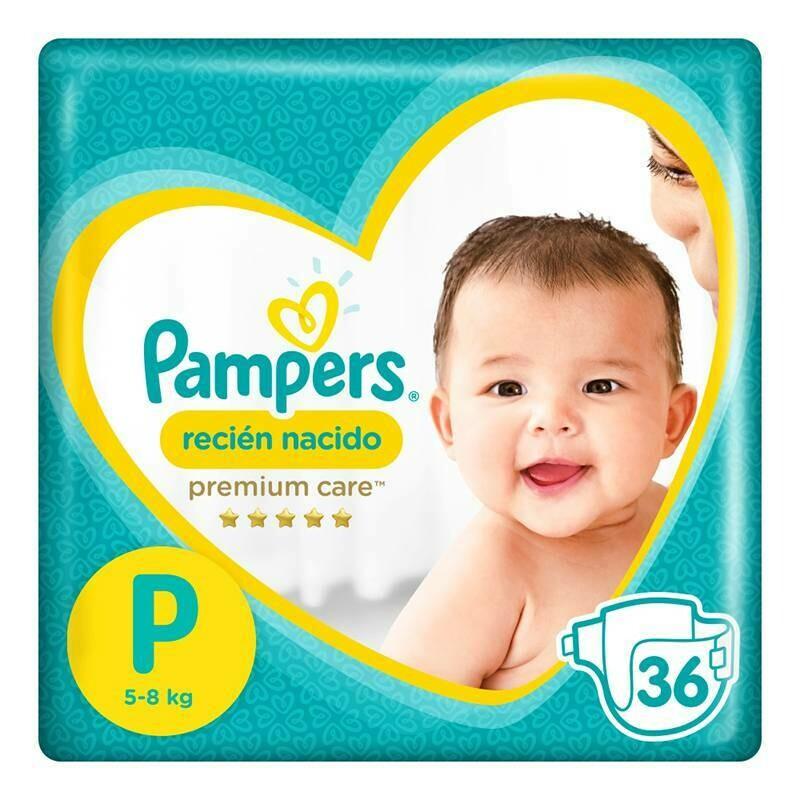 Pañal Pampers Premium Care Talla P de 36 unidades