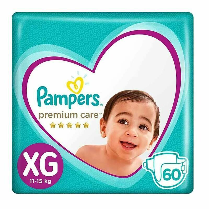 Pañal Pampers Premium Care Talla XG de 60 unidades