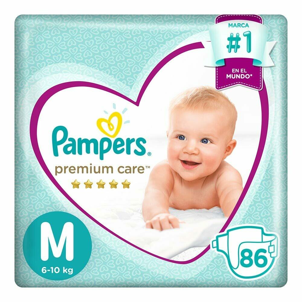 Pañal Pampers Premium Care Talla M de 86 unidades