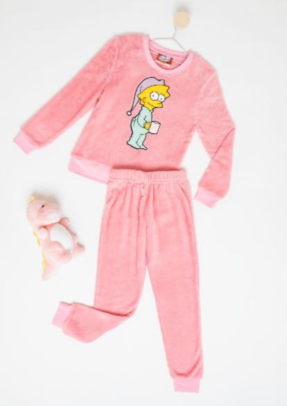 Pijama Lisa Los Simpson de Coral Fleece