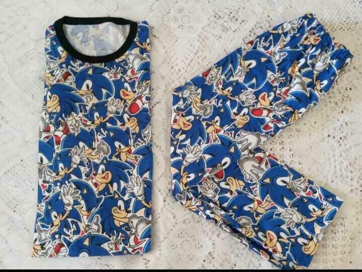 Pijama de Algodon de Sonic